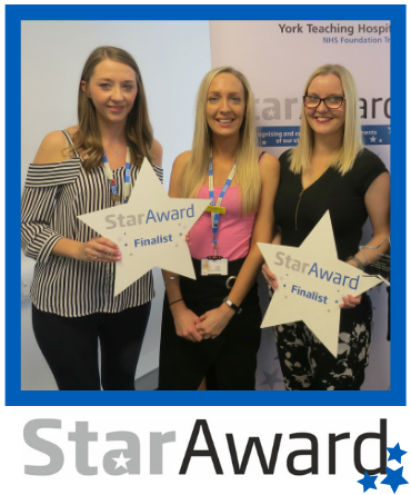 May Star Award - York Lucy Doughtery Alison Spray Hayley Bushby - Lung Cancer Care