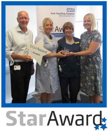 July 2019_Star Award_Alison Rider, Melanie Lindsey, Rose Low and Chelsea Myerscough - community nurses - York