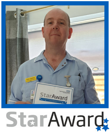 Star Award March 2020_Peter Lawrence - framed