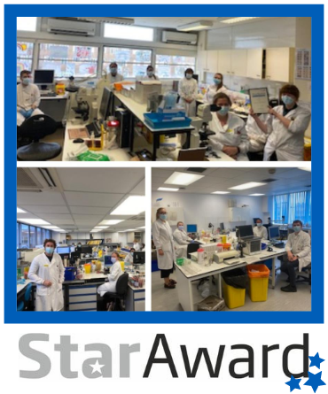 Aug Star Award laboratories framed