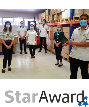 Star Award framed - Aug PPE Team