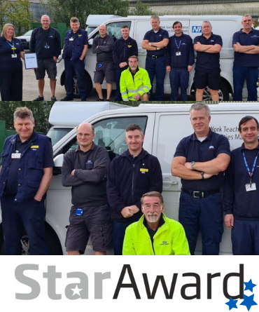 Star Award framed - Aug transport Team