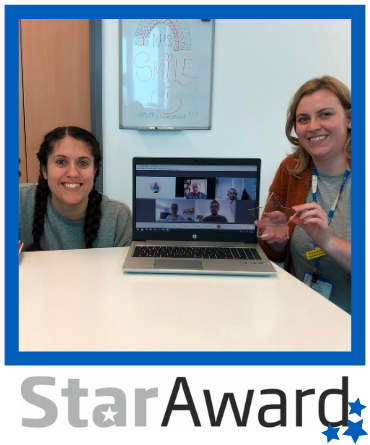 September 2020 star award finalist The Charity Team