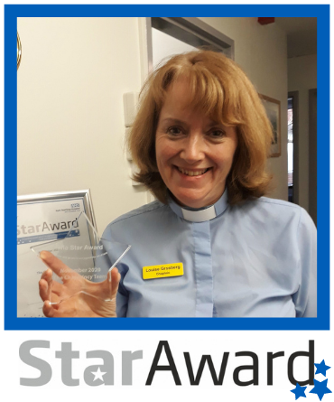 Star Award frame - Chaplaincy Nov 2020