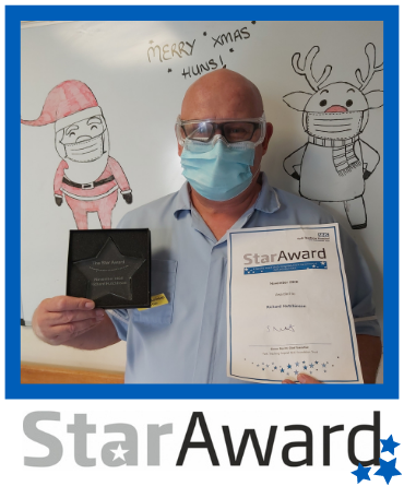 Star Award frame - Richard Hutchinson Nov 2020
