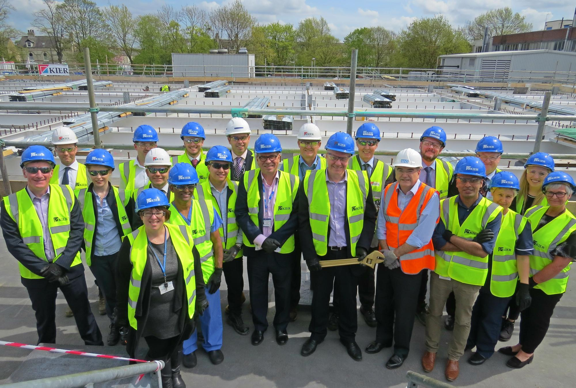 4 Bolt tighening_Trust and Kier celebrate milestone for new build