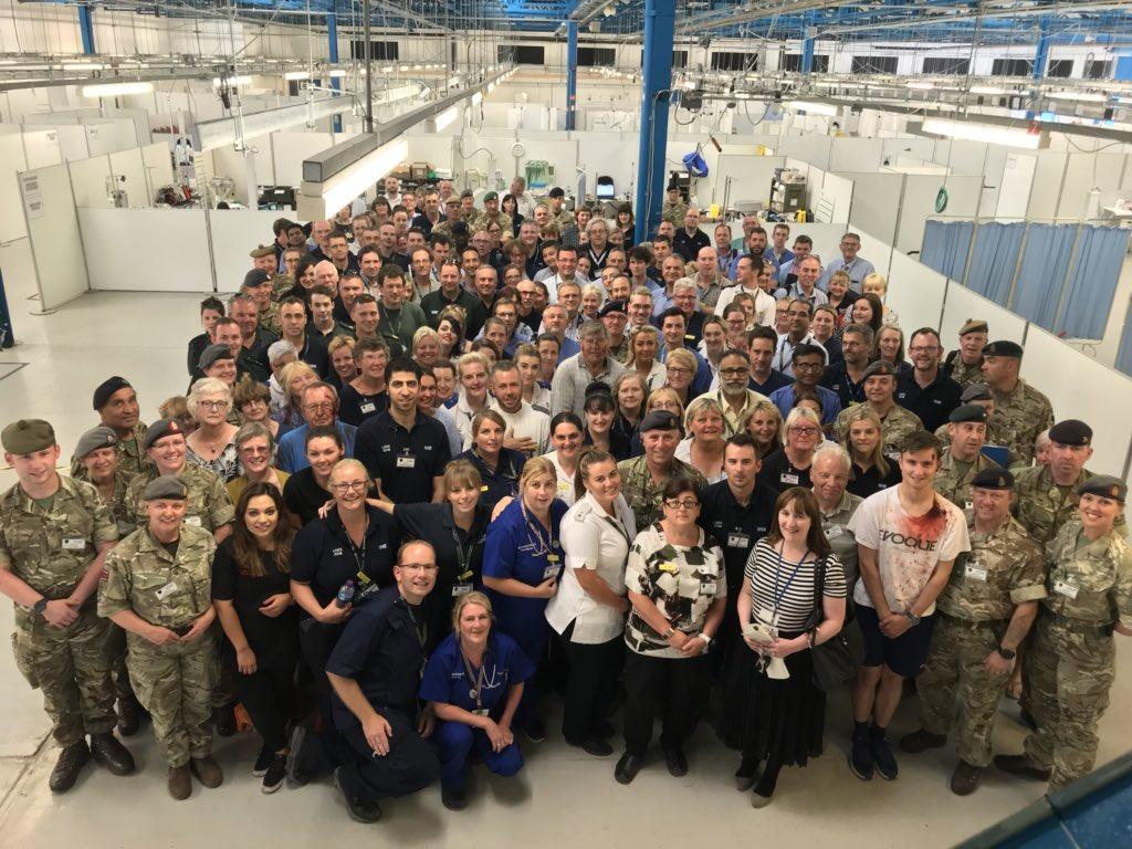 Mass simulation group photo